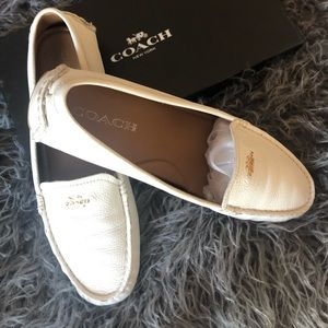 Coach leather driving loafers
